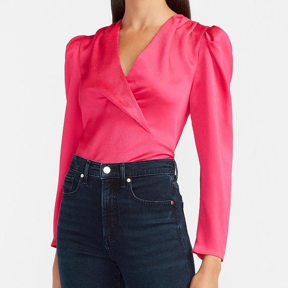Express Hot pink blouse NWOT
